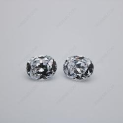 Cubic Zirconia White Color 5A Best Quality Oval Shape Quadrillion Cut 10x8mm stones CZ01 IMG_0560