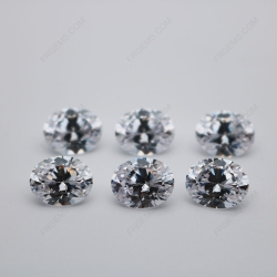 Cubic Zirconia White Color 5A Best Quality Oval Shape faceted Cut 10x8mm stones CZ01 IMG_0668
