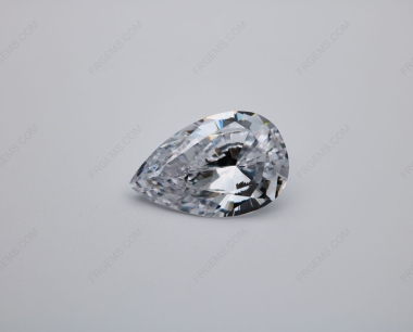 Cubic Zirconia White Color 5A Best Quality Pear Shape faceted Cut 15x10mm stones IMG_0565