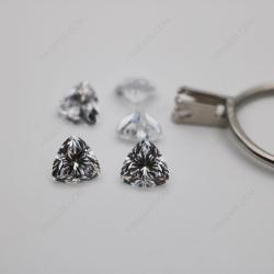Cubic Zirconia White Color 5A Best Quality Trillion Shape faceted Cut 8x8mm stones CZ01 IMG_1261