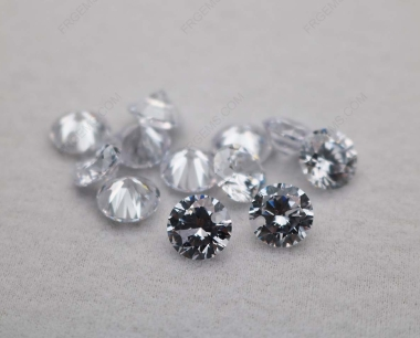 Cubic Zirconia White Color Round Shape Faceted diamond Cut 8mm stones CZ01 IMG_0994