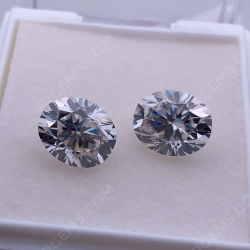 Loose Moissanite Oval Faceted Brilliant Cut 9x11mm stones wholesale from China Suppliers & Manufacturer