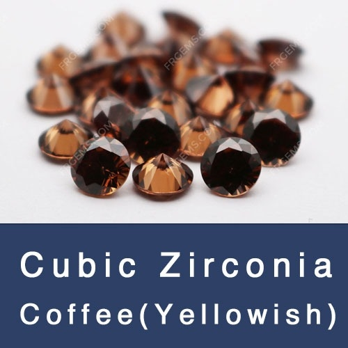Cubic zirconia coffee brown loose CZ Coffee Gemstones china wholesale and supplier
