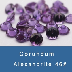 Lab Created Alexandrite Synthetic Alexandrite Color change Corundum China wholesale and Manufacturer