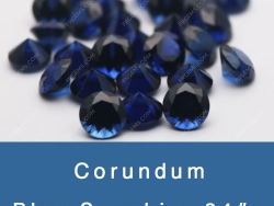 Lab Created Blue Sapphire 33# 34# 35# Synthetic blue Sapphire Gemstones China Wholesale and Suppliers