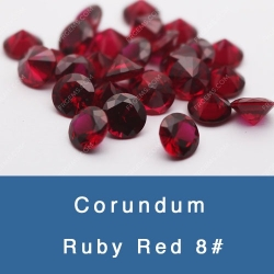 Lab Created Synthetic Ruby dark garnet red 8# Corundum gemstones china wholesale and suppliers
