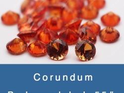 Lab created padparadscha #55 orange sapphire corundum Gemstone China Wholesale & Supplier