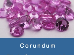 lab created pink sapphire #2 Medium color shade gemstones wholesale and supplier