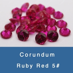 Lab Created Synthetic Ruby Red 5# Corundum Gemstones China Suppliers and Wholesale