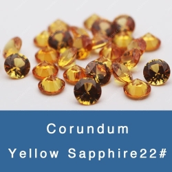 lab created synthetic yellow sapphire gemstones wholesale and suppliers
