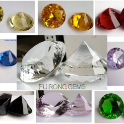 Crystal Round diamond cut Big Crystal gemstones China Wholesale and suppliers