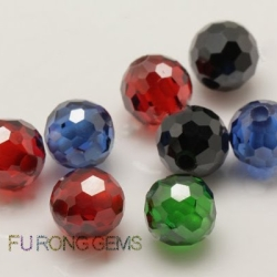 Faceted beads and cabochon balls CZ Synthetic Gemstones China Wholesale and supplier