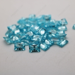 Cubic Zirconia Aquamarine Rectangle Shape Princess cut 4x6mm stones CZ38 IMG_4919
