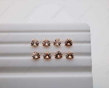 Cubic Zirconia Champagne Trillion Shape Diamond faceted cut 5x5mm stones CZ13 IMG_4888