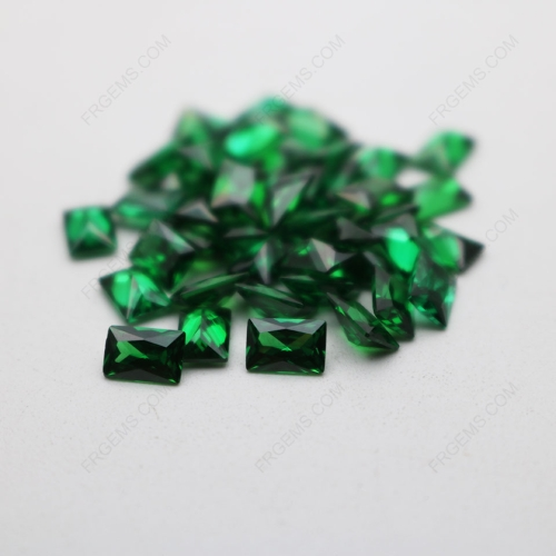 Cubic Zirconia Green Rectangle Shape Princess cut 4x6mm stones CZ35 IMG_4936