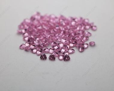 Cubic Zirconia Pink Trillion Shape Diamond faceted cut 3x3mm stones CZ03 IMG_4913