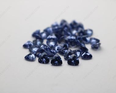 Cubic Zirconia Tanzanite Trillion Shape Diamond faceted cut 5x5mm stones CZ32 IMG_4902