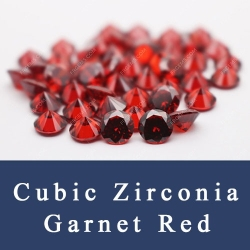 Loose Cubic zirconia Garnet Red Color CZ Gemstones China Supplier and Wholesale