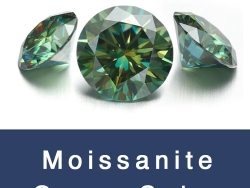 Loose Moissanite Green Color Round and Green Color Moissanite Gemstones wholesale from China