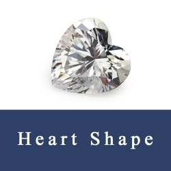 Heart Shape Loose Cubic Zirconia Stones and Created Synthetic Gemstones China Wholesale and Supplier