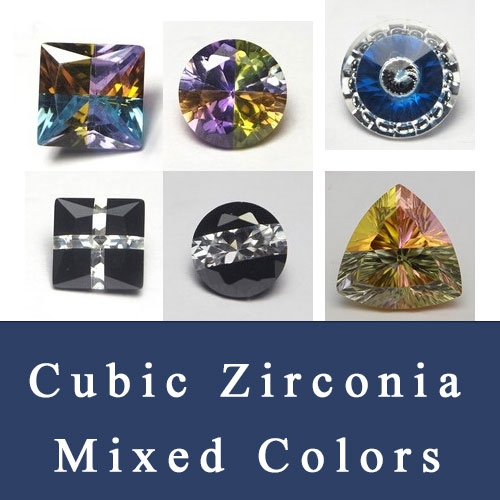 Mixed colored Cubic Zirconia Color-Mixed Gemstones wholesale and suppliers