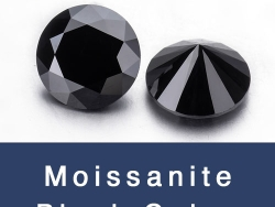 Loose Moissanite Black Color Round Faceted Brilliant cut Gemstones wholesale from China