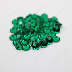 Nano Emerald Green Color Light shade 113# Round Diamond faceted cut 5mm stones IMG_4937