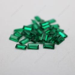 Loose Nano Emerald Green Very Dark Color Shade 111# Rectangle Baguette cut 3x6mm stones IMG_4939