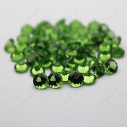 Loose Nano Crystal Peridot Dark Shade 151# Round Diamond faceted cut 5mm stones IMG_4922