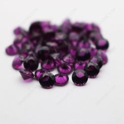 Nano Purple Dark Color Shade 167/1# Round Diamond faceted cut 5.00mm stones IMG_4924