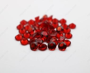 Loose Nano Spessartite Garnet Red 156# Round Diamond faceted cut 5.00mm stones IMG_4916