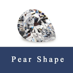 Pear Shape Loose Cubic Zirconia cz and Synthetic Gemstones China Wholesale and Supplier