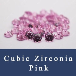 Cubic zirconia Pink Color Loose CZ Stones China Wuzhou Supplier and Wholesale
