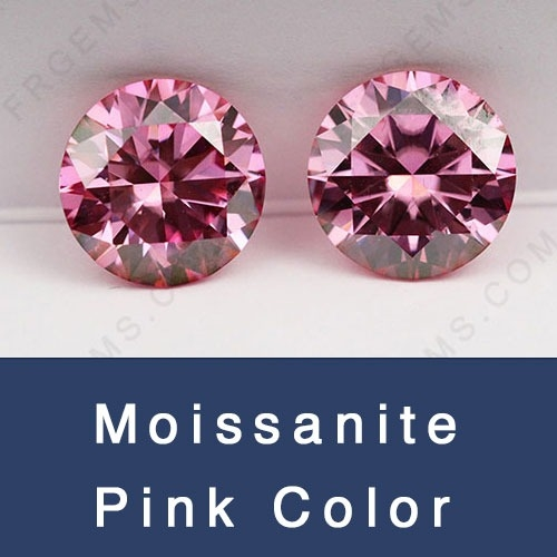 Loose Moissanite Pink Color Round and Popolar cuts Shapes Gemstones wholesale from China