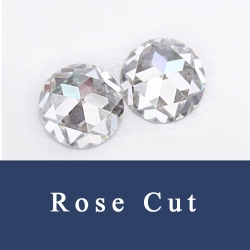 Rose Cut Loose Cubic Zirconia Synthetic Gemstones china supplier and wholesale