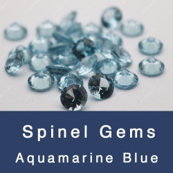Lab created aquamarine spinel #106 dark color gemstones china wholesale and suppliers