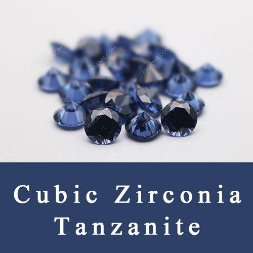 Cubic Zirconia Tanzanite blue Color CZ Loose gemstones China Wholesale and Supplier