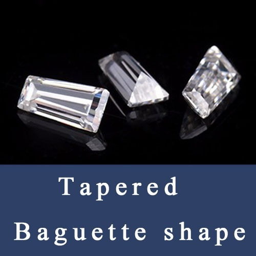 Tapered Baguette shape Loose Cubic Zirconia and synthetic Gemstones Baguette cut China Wholesale and Supplier