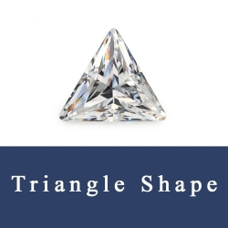Triangle Cuts Cubic Zirconia and Triangle shaped Synthetic Gemstones  China Wholesale and Supplier