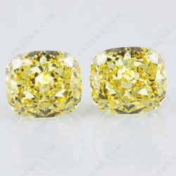 Crushed Ice Cut Canary Yellow Color Loose Cubic Zirconia Gemstones China Wholesale and Supplier