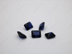 Loose Synthetic Lab Created Corundum Blue Sapphire 34# Octagon Shape Radiant Cut 6x8mm stones IMG_0709