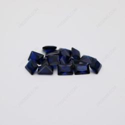Loose Synthetic Corundum Blue Sapphire 34# Rectangle Shape Princess Cut 5x7mm stones IMG_2290