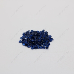 Loose Synthetic Corundum Blue Sapphire 34# Round Shape Small melee Faceted Cut 2mm stones IMG_1777