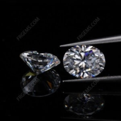 Loose Moissanite Oval shape Faceted Brilliant cut gemstone wholesale from China Supplier