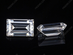Loose Moissanite D EF Color baguette cut gemstone wholesale from China Supplier