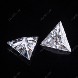 Loose Moissanite D EF color Triangle Shape faceted cut gemstone wholesale from China Supplier
