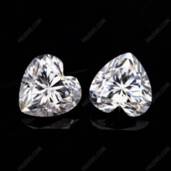 Loose Moissanite D EF color Heart Shape faceted cut gemstone wholesale from China Supplier