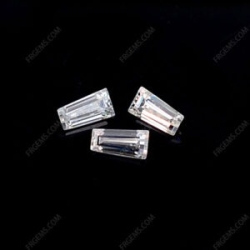 Loose Moissanite Tapered baguette cut gemstone wholesale from China Supplier