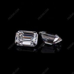 Loose Moissanite D EF color Octagon Shape Emerald cut gemstone wholesale from China Supplier