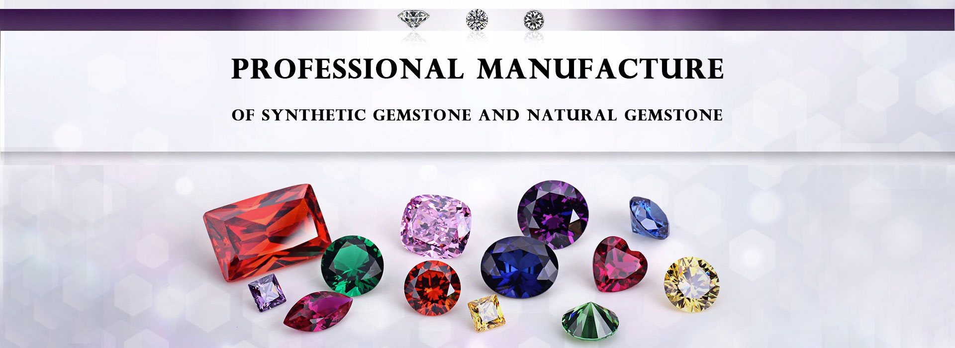 Loose cubic zirconia Moissanite synthetic gemstones China supplier